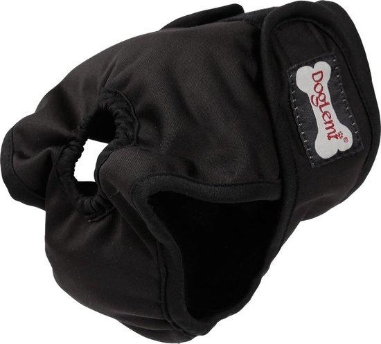 Loopsheidbroekje hond - zwart - Maat M - Hondenbroekje - loopsheid teef - hondenluier - wasbaar
