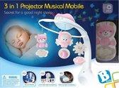 Infantino - Roze  - Bed mobiel, Box activity en Nachtlampje(met muziek)