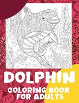 Dolphin - Coloring Book for adults