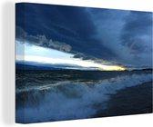 Baikal storm 60x40 cm - Foto print op Canvas schilderij (Wanddecoratie woonkamer / slaapkamer)