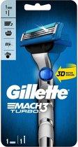 Gillette Mach3 Turbo 3D Scheersysteem Scheermesjes
