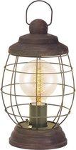 EGLO Vintage Bampton - Tafellamp - 1 Lichts - Ø175mm. - Patina Bruin