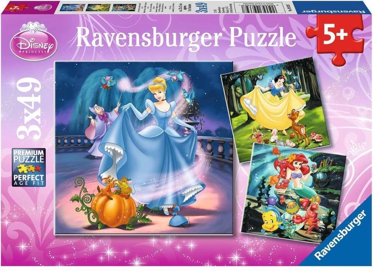 Ravensburger puzzel Disney Princess - 3x49 stukjes - Kinderpuzzel - Ravensburger
