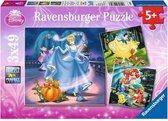 Ravensburger Disney Princess - Drie puzzels van 49 stukjes