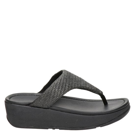 Fitflop Tm Vrouwen Slippers - Imogen Toe Weave Zwart Maat 36 hYF9FY