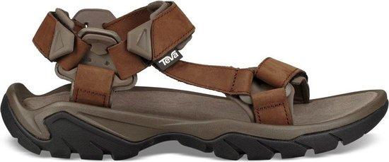 Teva Terra Fi 5 Leather heren sandalen middenbruin