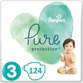 Pampers Pure Protection Maat 3 - 124 Luiers Voordeelverpaking