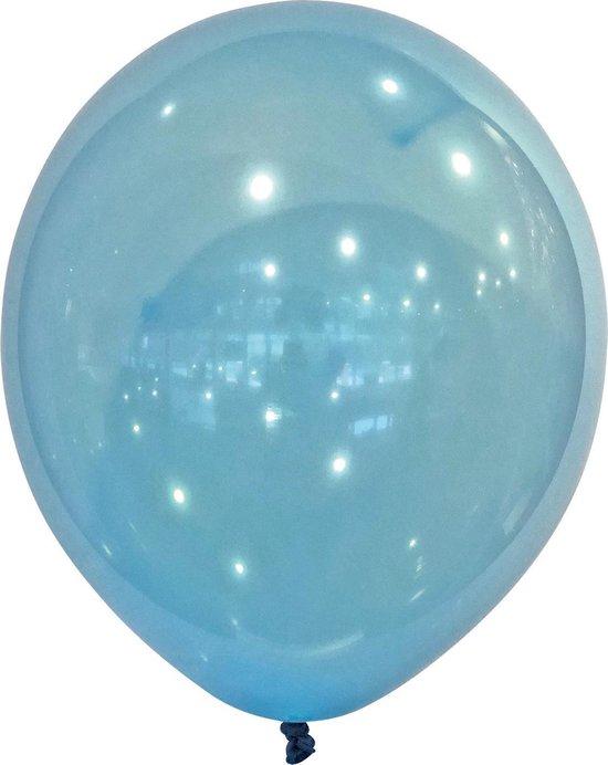 Amscan Ballonnen 13 Cm Latex Transparant Blauw 100 Stuks
