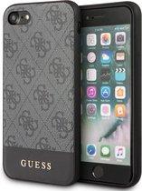 iPhone SE (2020)/8/7/6s/6 Backcase hoesje - Guess - Effen Grijs - Kunstleer