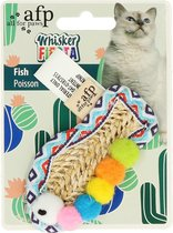 AFP WHISKER FIESTA VIS 9X4,5 CM kattenspeeltjes / kattenspeelgoed
