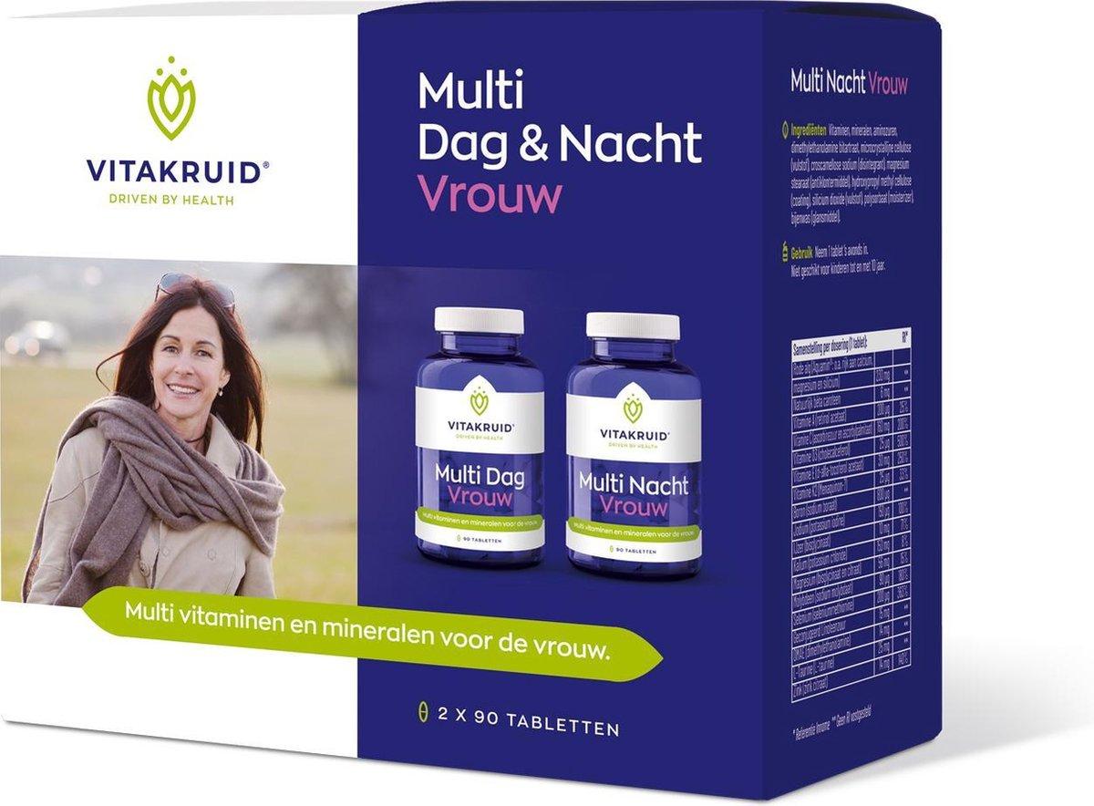 Vitakruid Multi Dag & Nacht Vrouw 180 tabletten