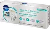 Wpro Anti-kalk en Ontvetter in een 12 stuks Wasmachine & Vaatwasmachine - Wit