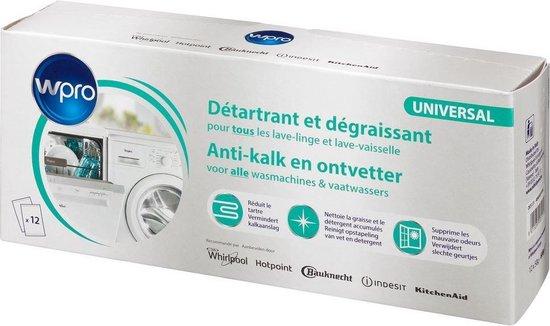 WPRO Ontkalker 3-in-1 Anti-kalk en Ontvetter Wasautomaten en Vaatwaswassers 484000008801