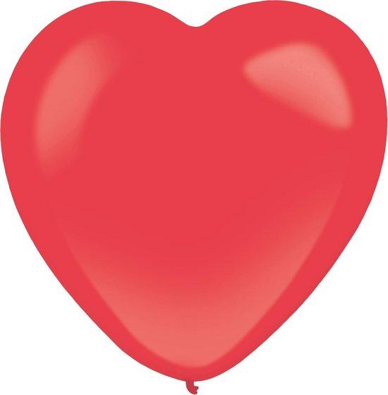 Amscan Hartjesballonnen 30 Cm Latex Appelrood 50 Stuks