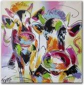 Schilderij - Koeienvrienden