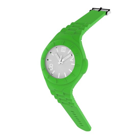 TOO LATE – siliconen horloge – MASH UP LORD REG – Ø 40 mm – acd green