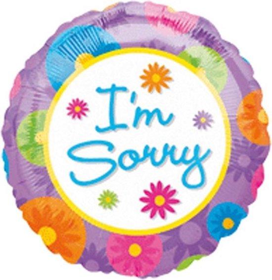 Folie ballon sorry