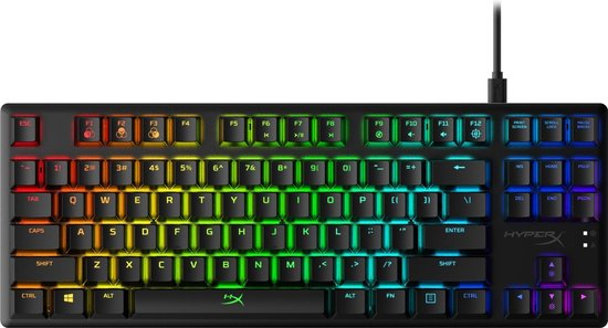 HyperX Alloy Origins Core - RGB Tenkeyless Mechanical Gaming Keyboard - QWERTY - HyperX Aqua Switch