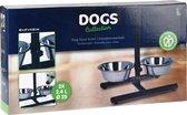 RelaxPets - Honden Voer & Waterbak - RVS - Op Standaard - In Hoogte Verstelbaar