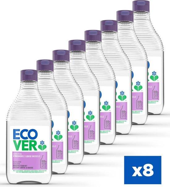 Ecover Afwasmiddel - Lelie & Lotus - Voordeelverpakking 8 x 450 ml
