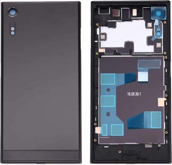 Let op type!! Back Battery Cover + Back Battery Bottom Cover + Middle Frame for Sony Xperia XZ (Black)