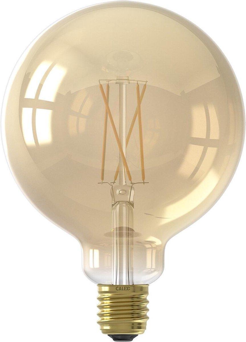 CALEX - LED Lamp - Globe - Smart LED G125 - E27 Fitting - Dimbaar - 7W - Aanpasbare Kleur CCT - Goud