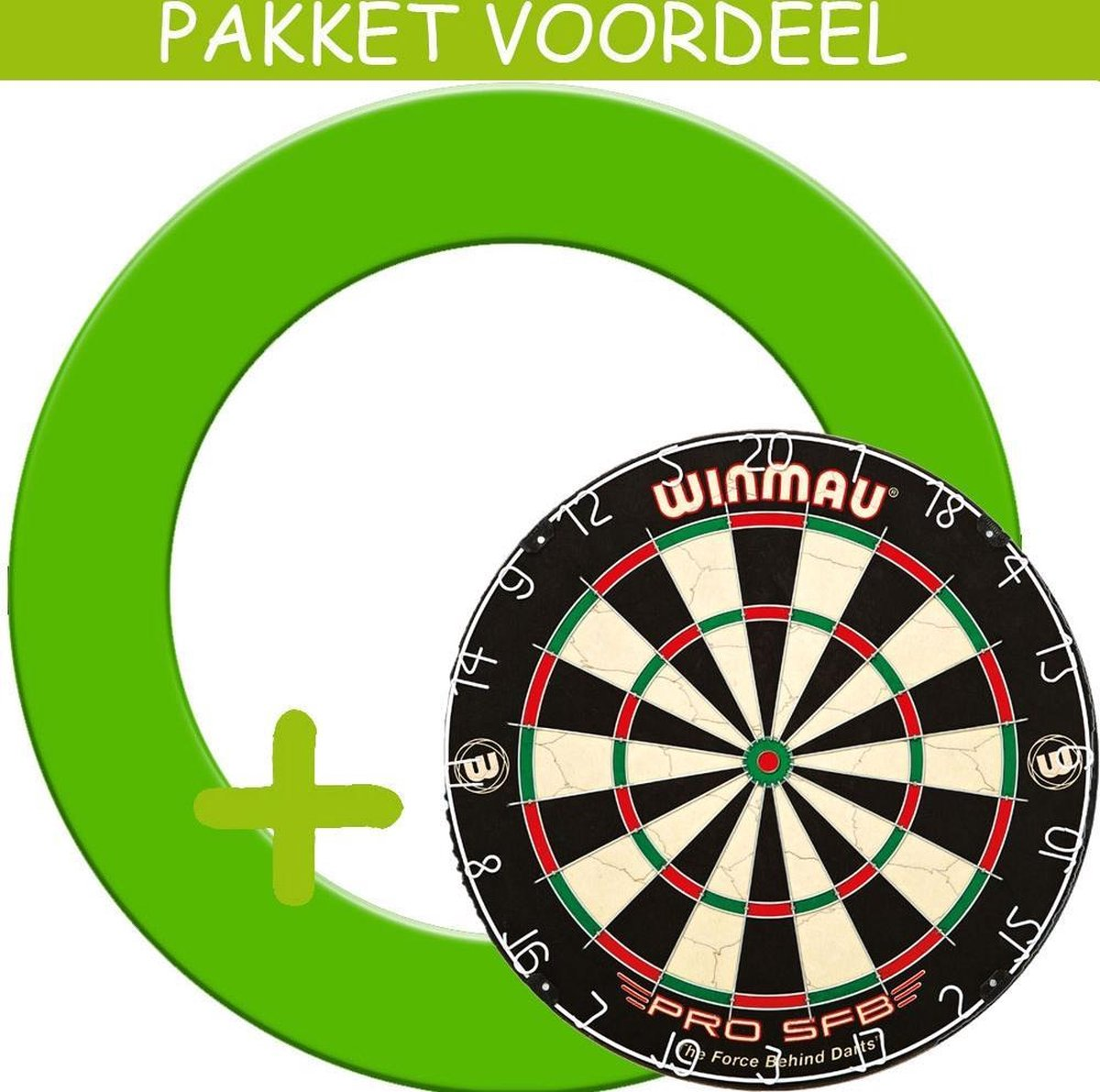 Dartbord Surround VoordeelPakket - Pro SFB - Rubberen Surround-- (Groen)