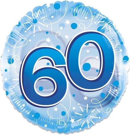 Witbaard Folieballon Clear 60 Jaar 61 Cm Blauw