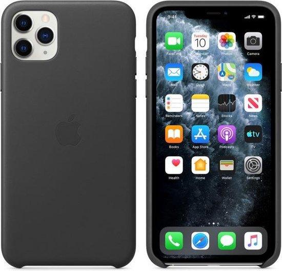 Apple Leren Hoesje voor iPhone 11 Pro Max - Zwart