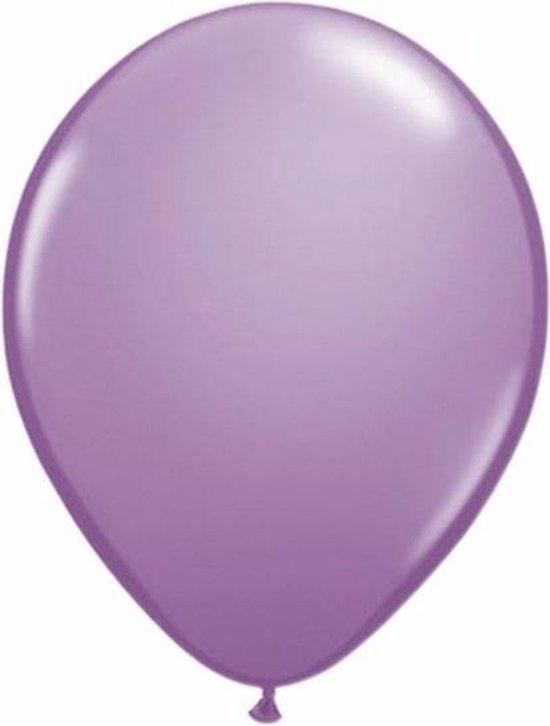 Lavendel paarse party ballonnen 30x stuks 30 cm - Feestartikelen/versieringen