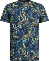 WE Fashion Heren T-shirt met bladerendessin