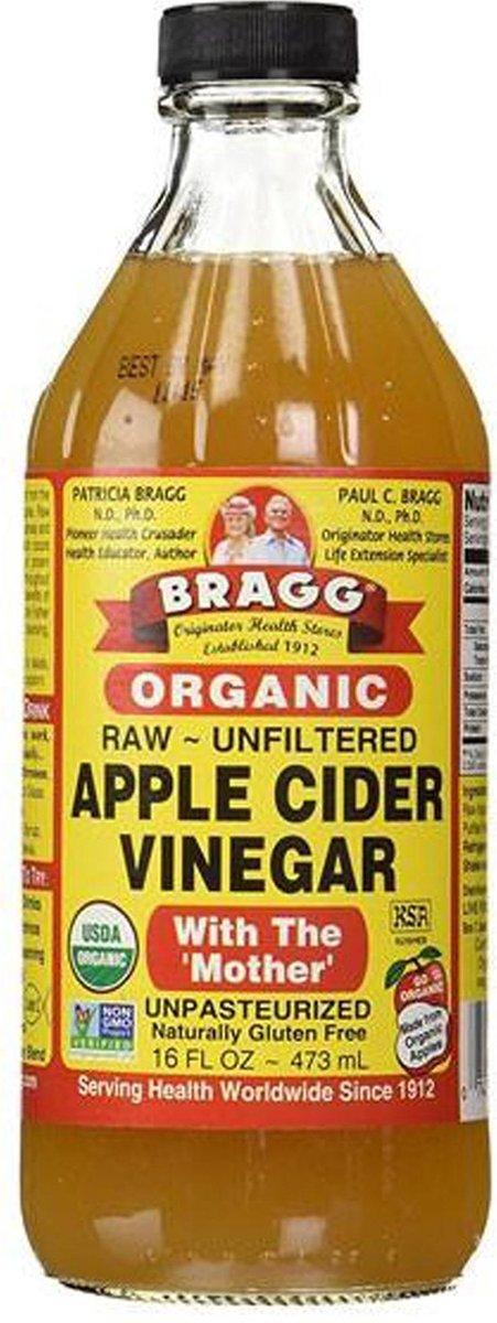 Bragg apple cider azijn - 473 ml - Voedingssupplement