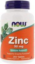 Now Foods, Zinc, 50 mg, 250 tabletten
