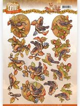 3D Knipvel - Yvonne Creations - Fabulous Fall - Fall Birds