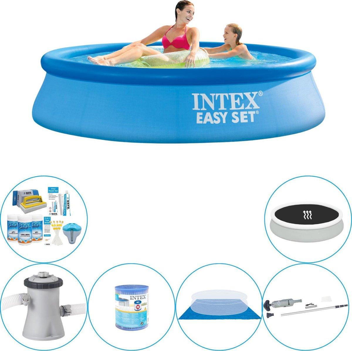 Intex Easy Set Rond 244x61 cm - Zwembad Combinatie Pakket
