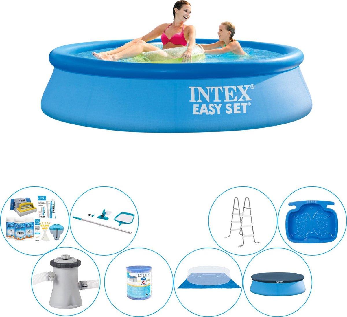 Intex Easy Set Rond 244x61 cm - Zwembad Bundel