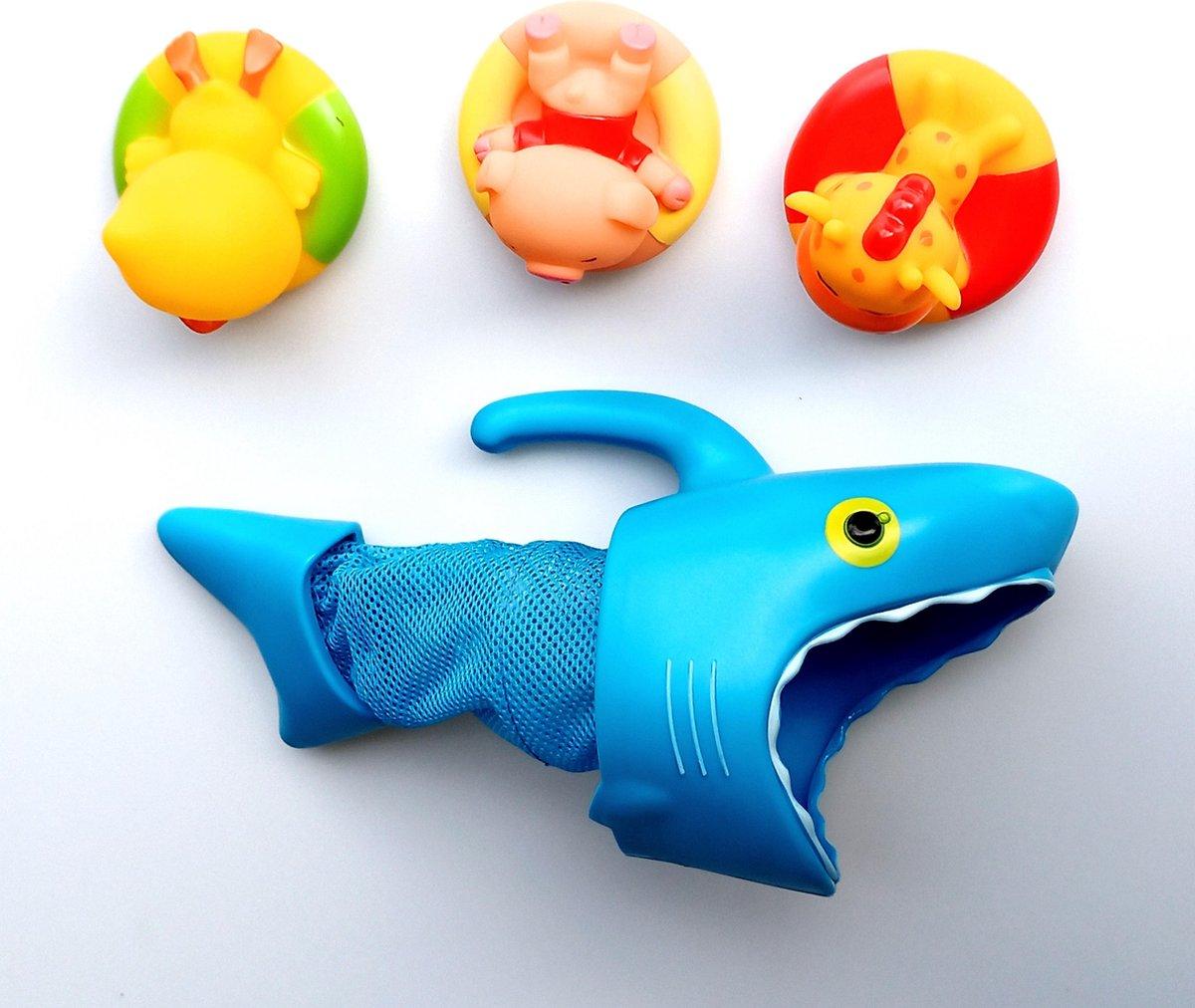 Jobber Waterplay Badfiguren - Haai visnet - vissen vangen - badspeeltjes