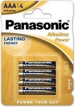 Panasonic PBALR03B4 AAA batterijen - Alkaline Power - 4 Stuks