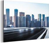 Uitzicht op de gebouwen in Shenzhen Aluminium 90x60 cm - Foto print op Aluminium (metaal wanddecoratie)