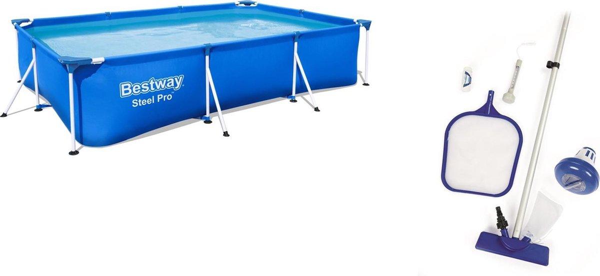 Zwembad 3meter + schoonmaakset (bundel)