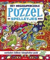 Het megasupercoole puzzel- en spelletjesboek