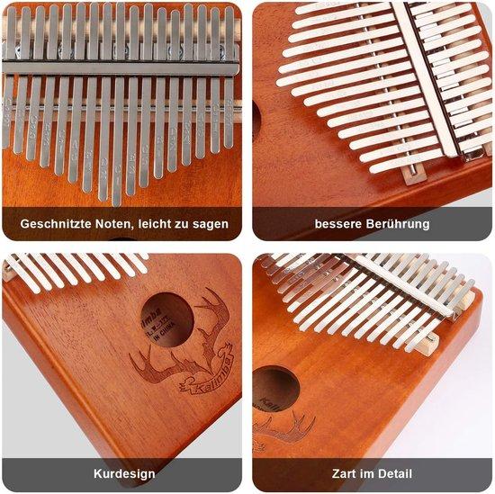 Kalimba - Top zinaps Professionele Kalimba duimpiano 17 sleutels Thumb Piano - met tas stemhamer leerboek stickers - muziekinstrument cultiveren for muziekliefhebbers Kinderen Volwassenen beginners (gewei)