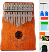 kalimba - Top zinaps Professionele Kalimba duimpiano 17 sleutels Thumb Piano - met tas stemhamer leerboek stickers -  muziekinstrument cultiveren voor muziekliefhebbers kinderen volwassenen beginners (gewei)