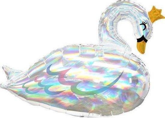 Amscan Folieballon Supershape Iridescent Swan 73 Cm