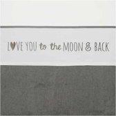 Meyco Love you To The Moon & Back Ledikant Laken - 100x150 cm - Grijs