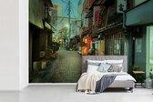 Smalle straat van Tokyo in Japan 420x280 cm