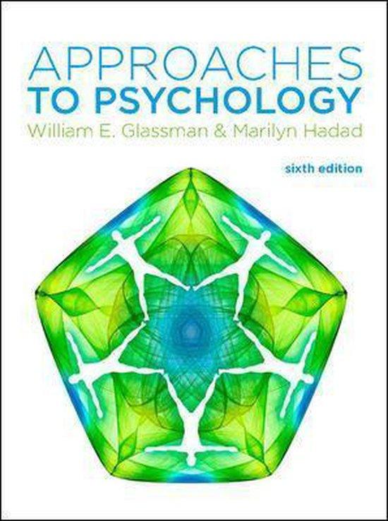 Boek cover Approaches to Psychology van William Glassman (Paperback)