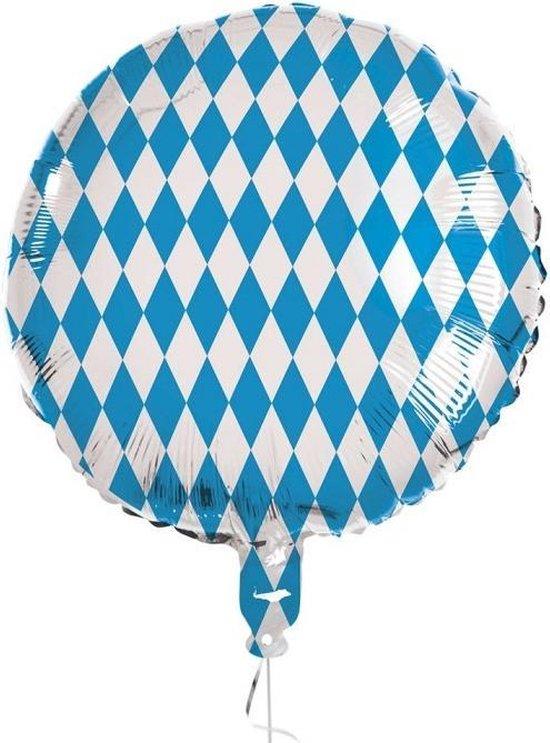 Boland Folieballon Beieren 45 Cm Blauw/wit
