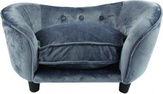 Enchanted hondenmand sofa ultra pluche snuggle donkergrijs (68X40,5X37,5 CM)
