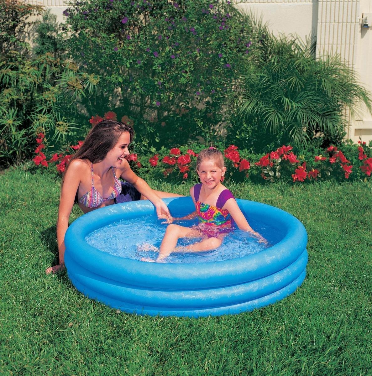 Intex Opblaasbaar Zwembad Crystal - 3 Rings - 114 cm - Opblaaszwembad